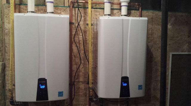 tankless water heater basement program