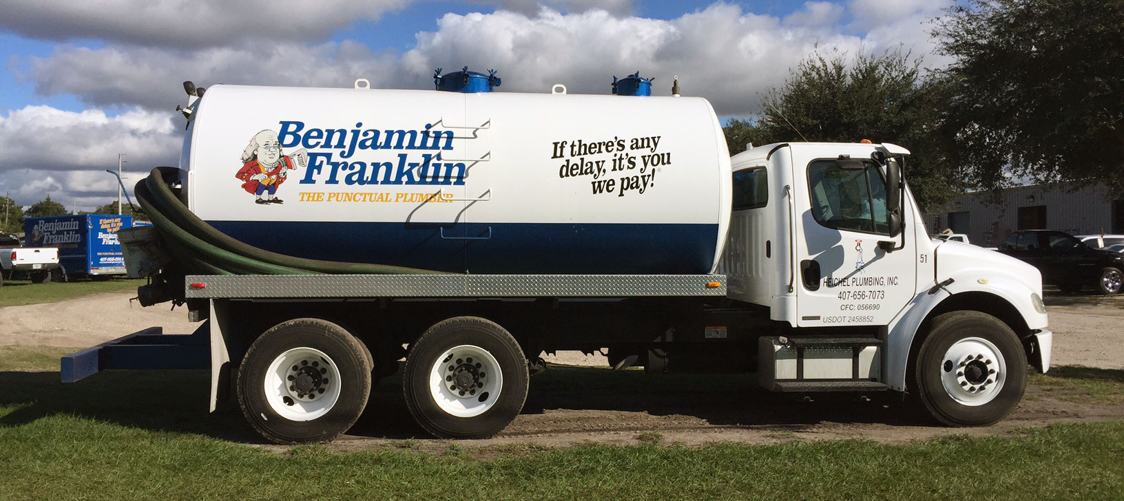 Benjamin Franklin Plumbing – Septic Truck